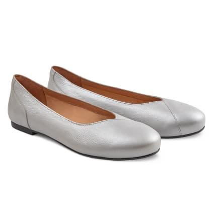 Flacher Ballerina Silber