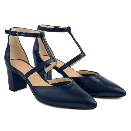 Pumps T-Strap Navy