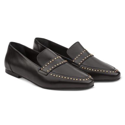 Loafer mit Nieten Schwarz