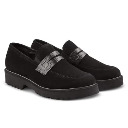 Premium Loafer mit Profilsohle Schwarz