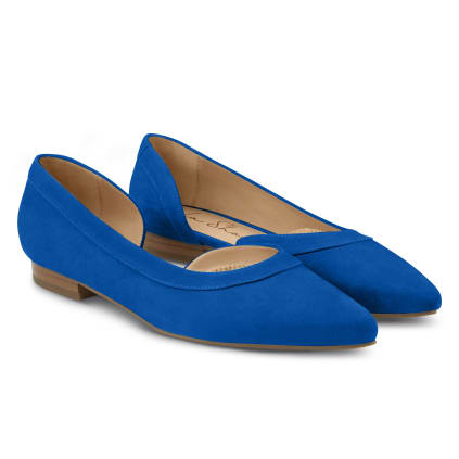 Ballerina mit Cut-Out Blau