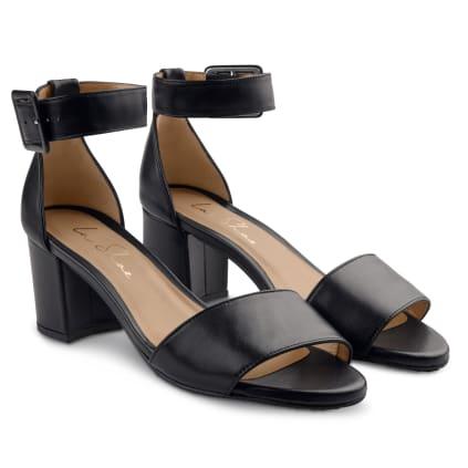 Sandalette mit Fesselriemchen Schwarz