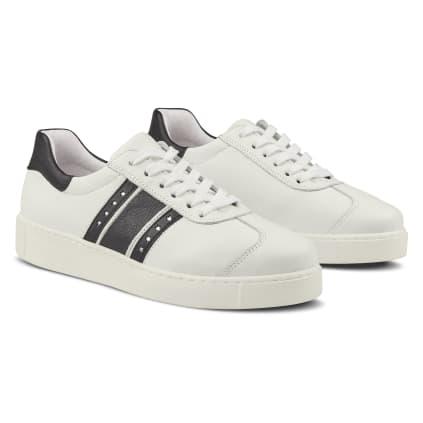 Sneaker Retro mit Flagge Weiß