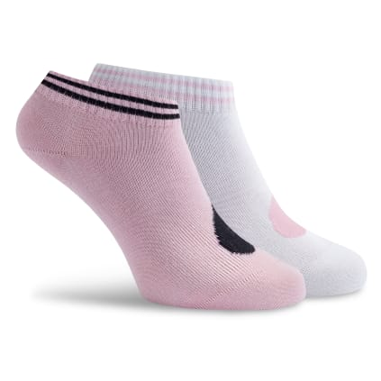 Sneaker Socken rosa/weiß