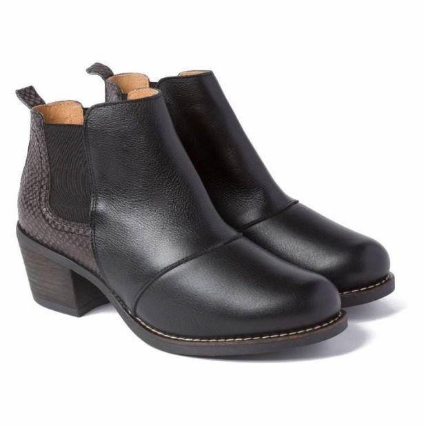 Boot im Chelsea-Stil Schwarz/Grau