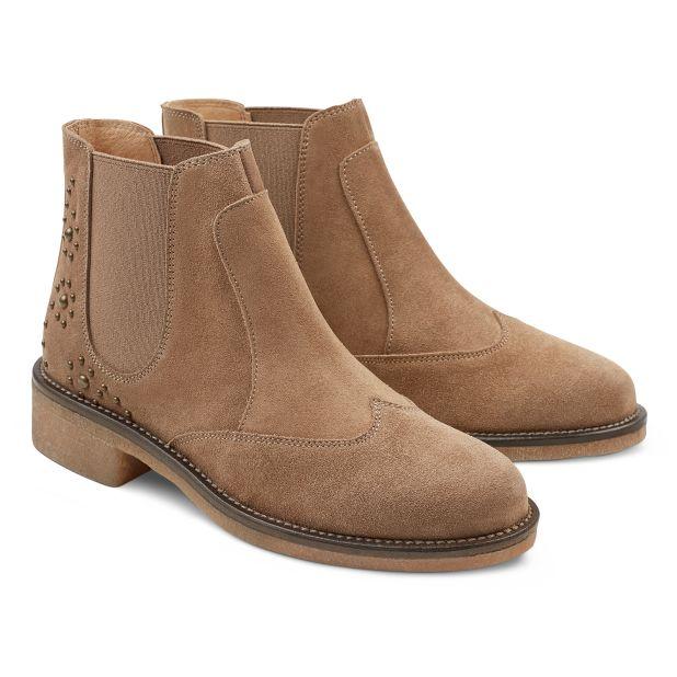 Chelsea Boot Boho-Stil Beige