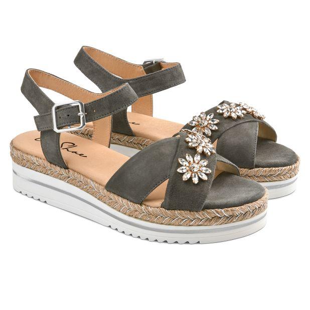 Sandale Summertime Glam Dunkelgrau