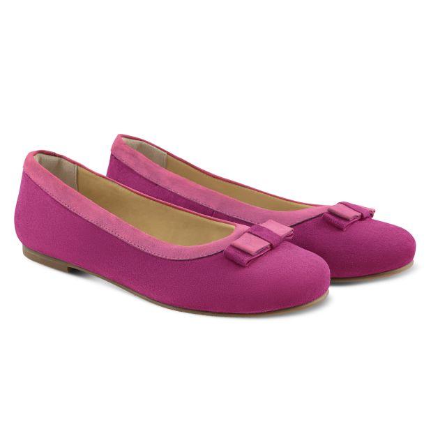 Ballerina mit Doppelschleife Pink