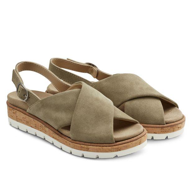 Sandale Kreuzriemen Khaki