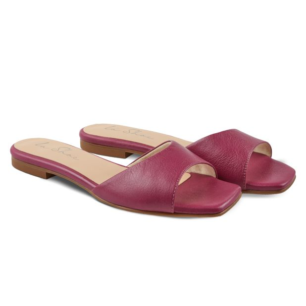 Mule Squaretoe Pink