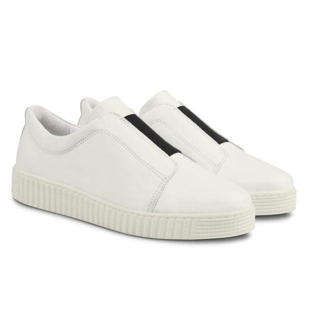 Sneaker mit Kontrastgummi Weiß