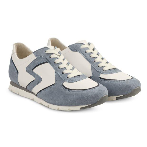 Premium Sneaker Colourline Weiß/Hellblau