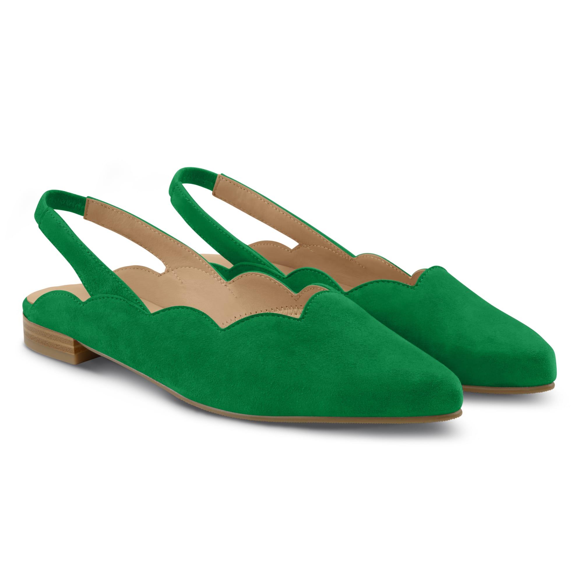Sling Ballerina Wave Grün – modischer und bequemer Schuh für Hallux valgus und empfindliche Füße von LaShoe.de