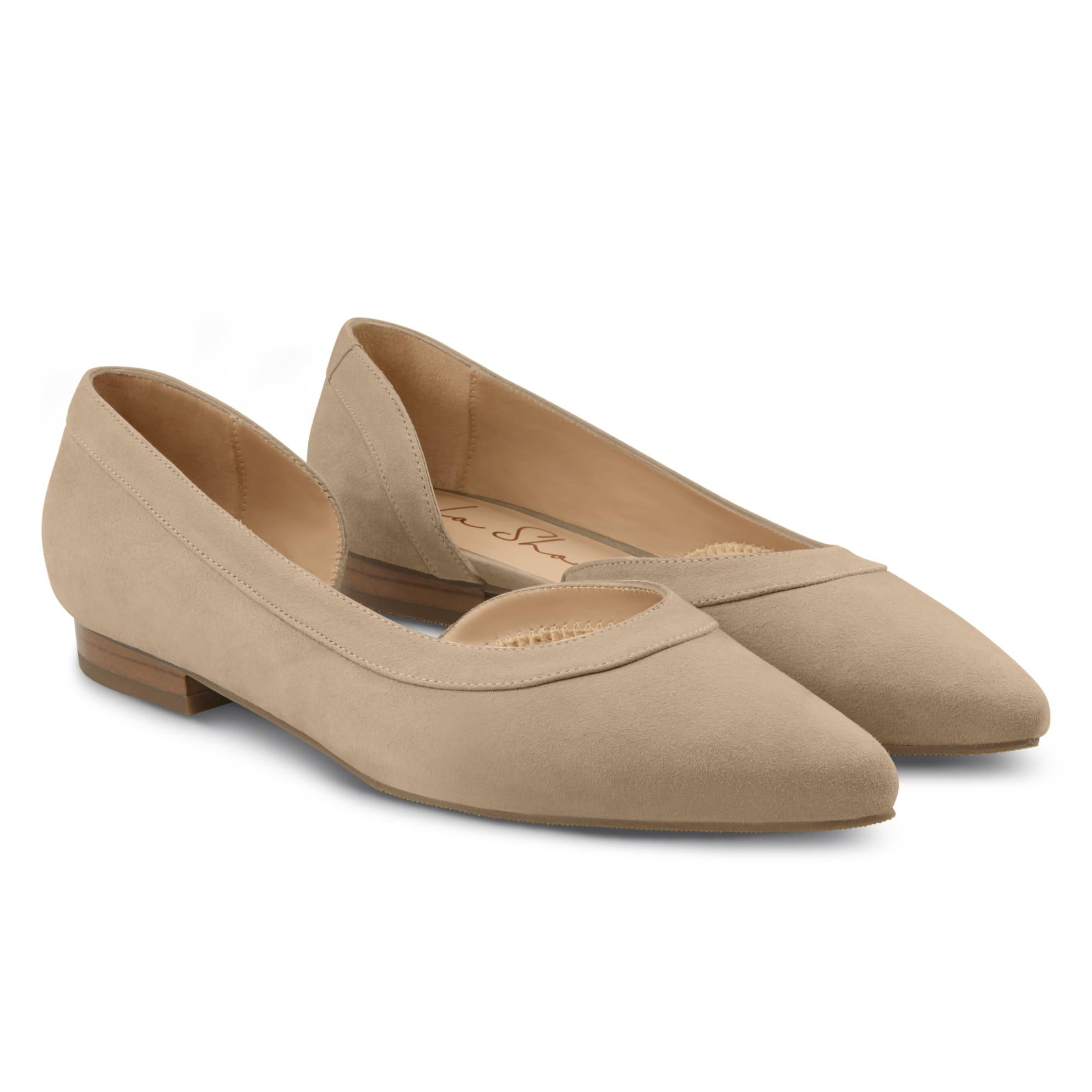 Ballerina mit Cut-Out Beige – modischer und bequemer Schuh für Hallux valgus und empfindliche Füße von LaShoe.de