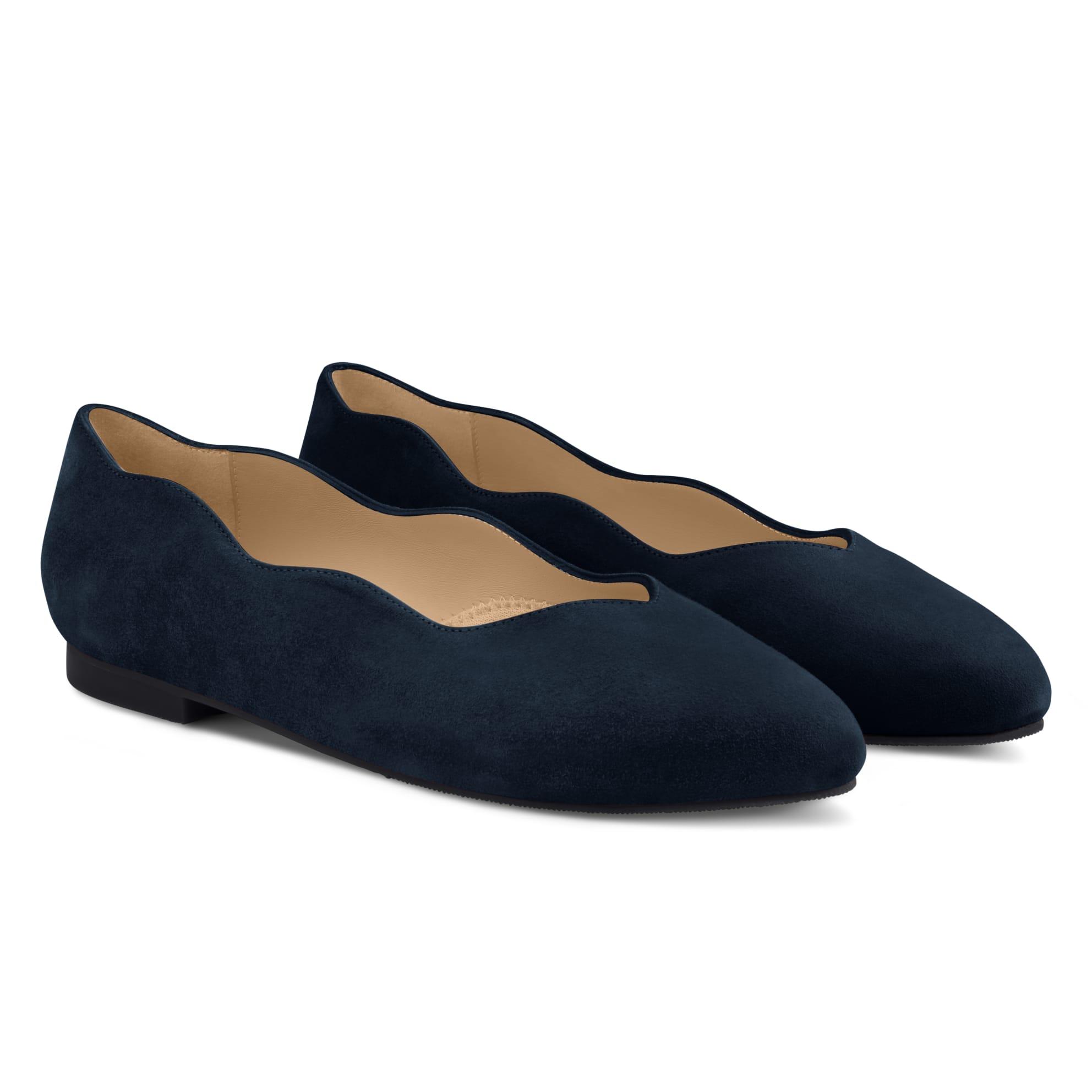 Ballerina Wave Marine – modischer und bequemer Schuh für Hallux valgus und empfindliche Füße von LaShoe.de