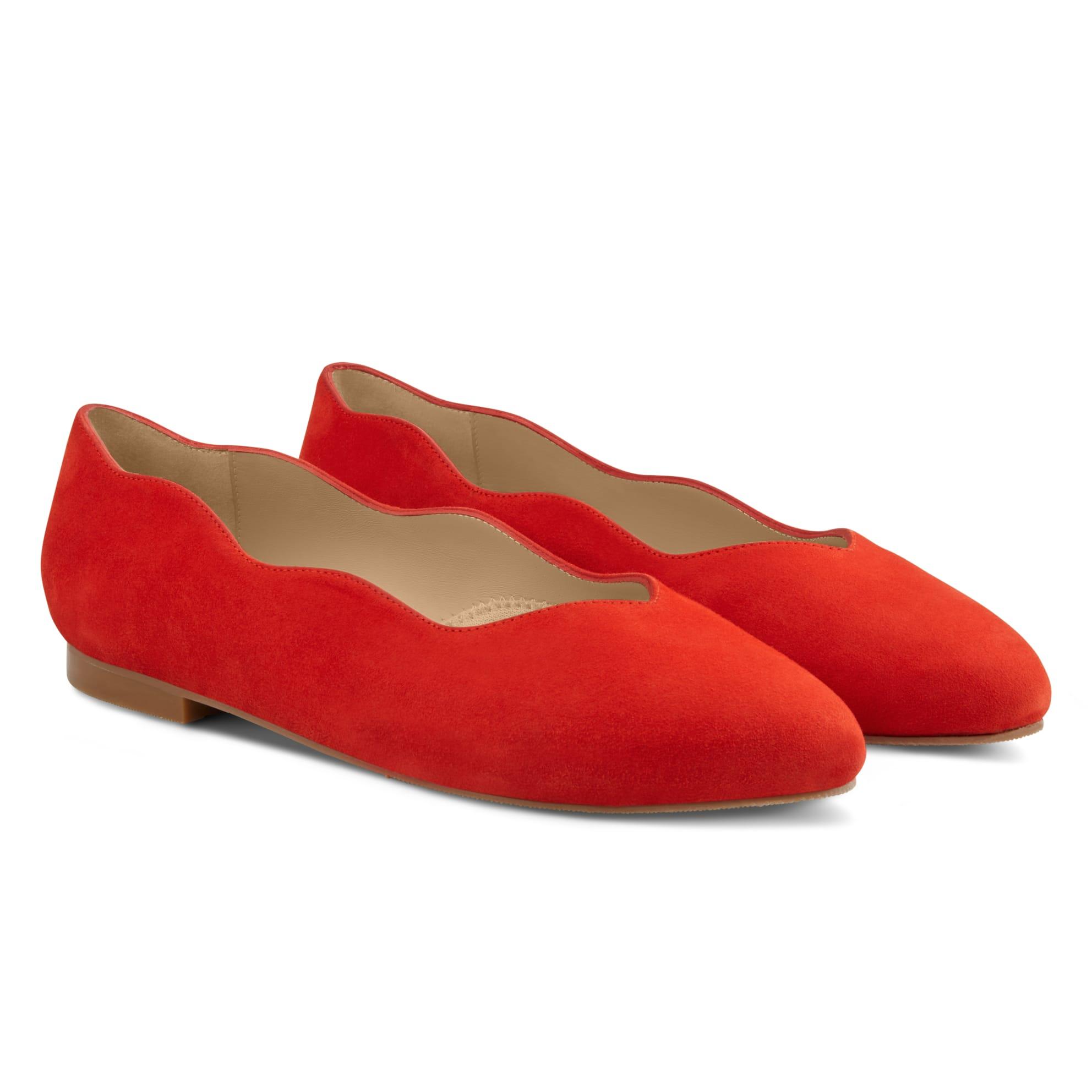 Ballerina Wave Rot – modischer und bequemer Schuh für Hallux valgus und empfindliche Füße von LaShoe.de