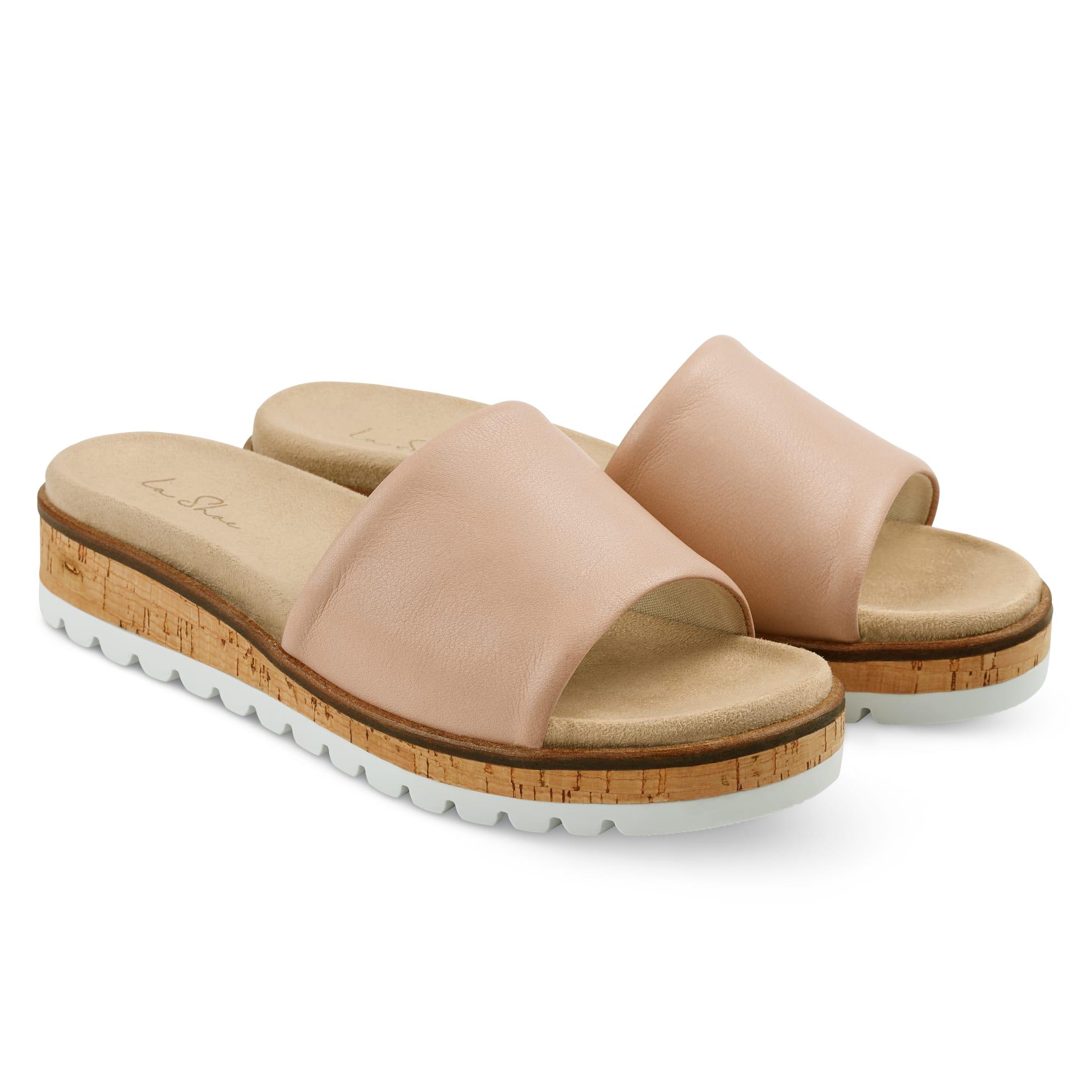 Pantolette mit Wechselfußbett Nude – modischer und bequemer Schuh für Hallux valgus und empfindliche Füße von LaShoe.de