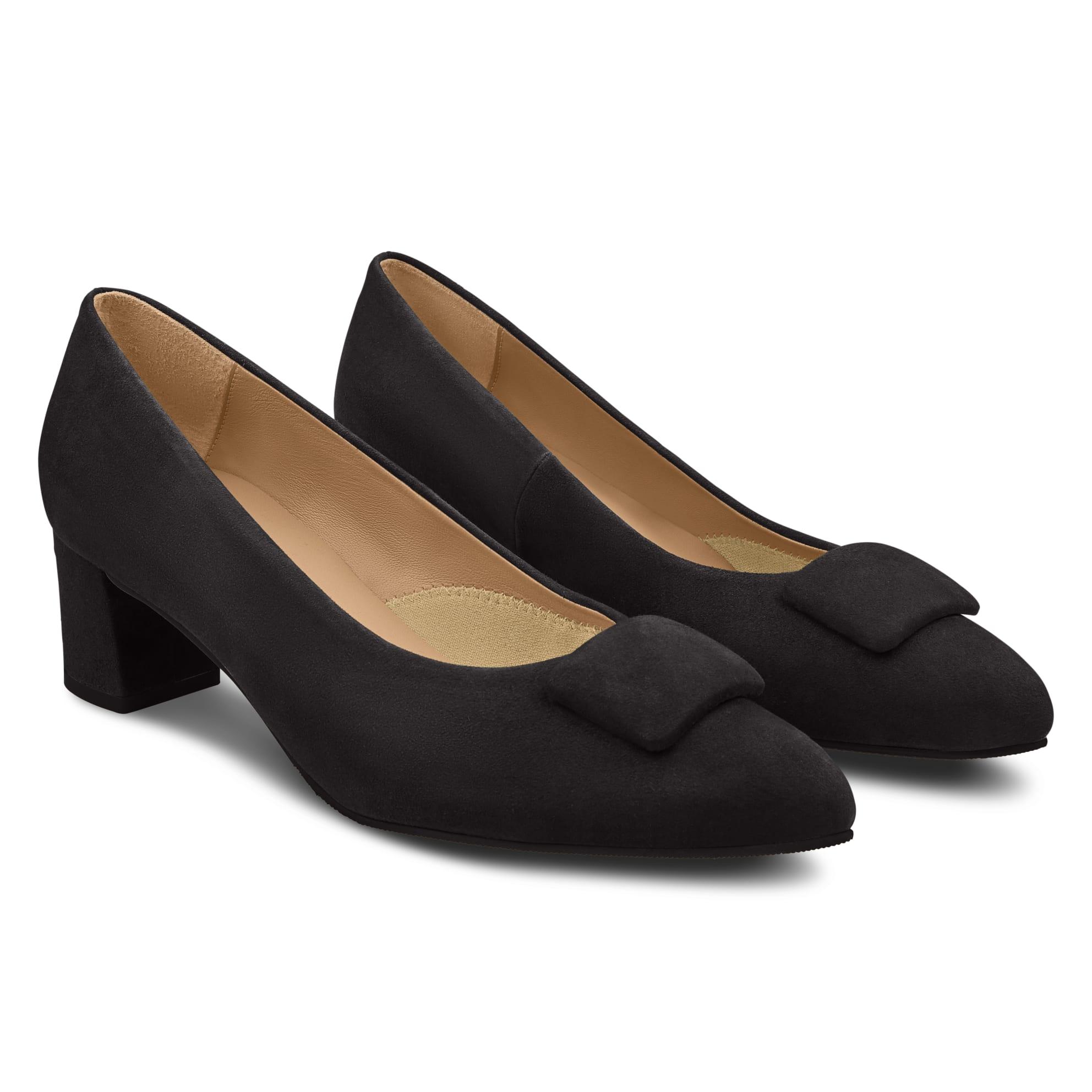 Pumps Spitz mit Kissen Schwarz – modischer und bequemer Schuh für Hallux valgus und empfindliche Füße von LaShoe.de