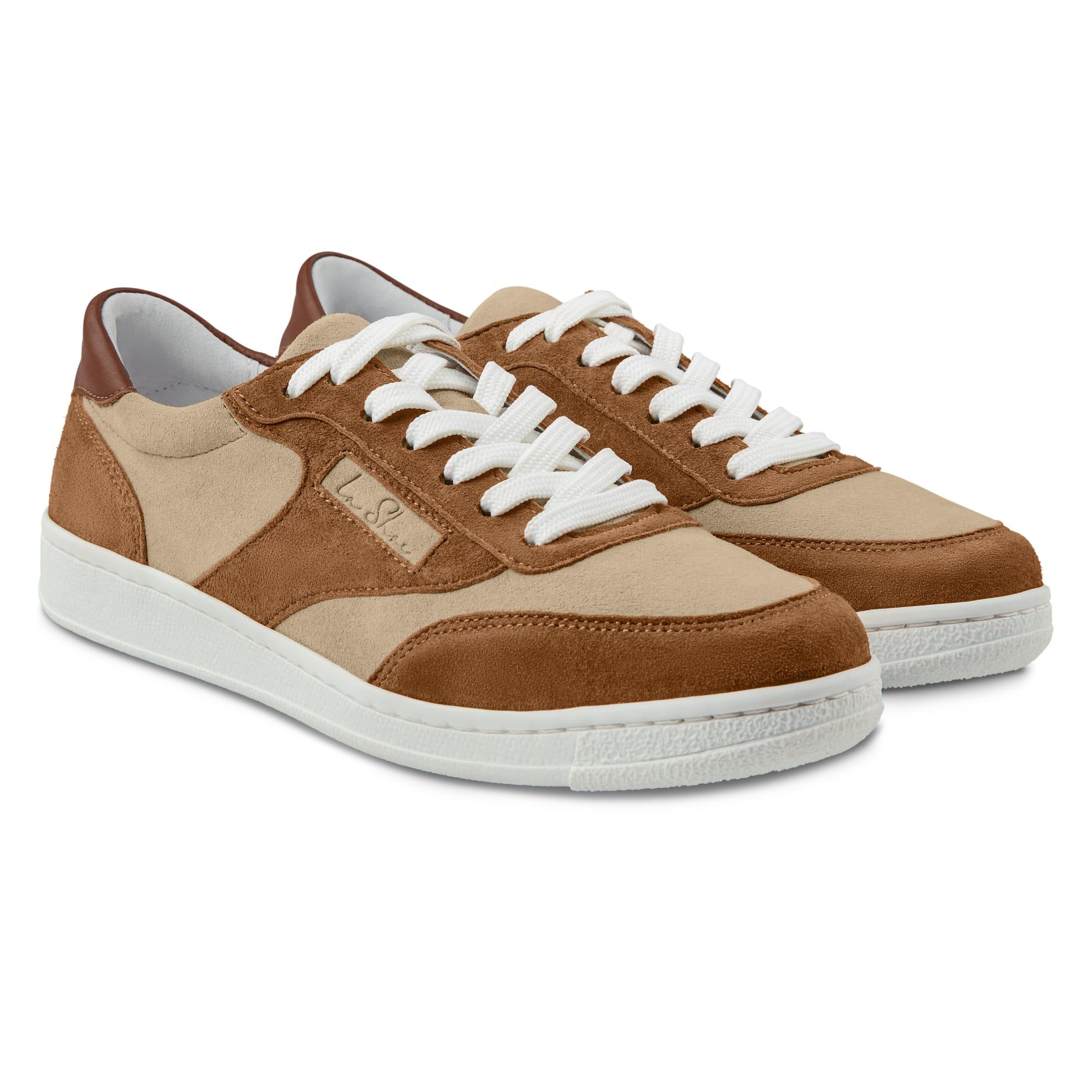 Sneaker Tennis Style Beige – modischer und bequemer Schuh für Hallux valgus und empfindliche Füße von LaShoe.de