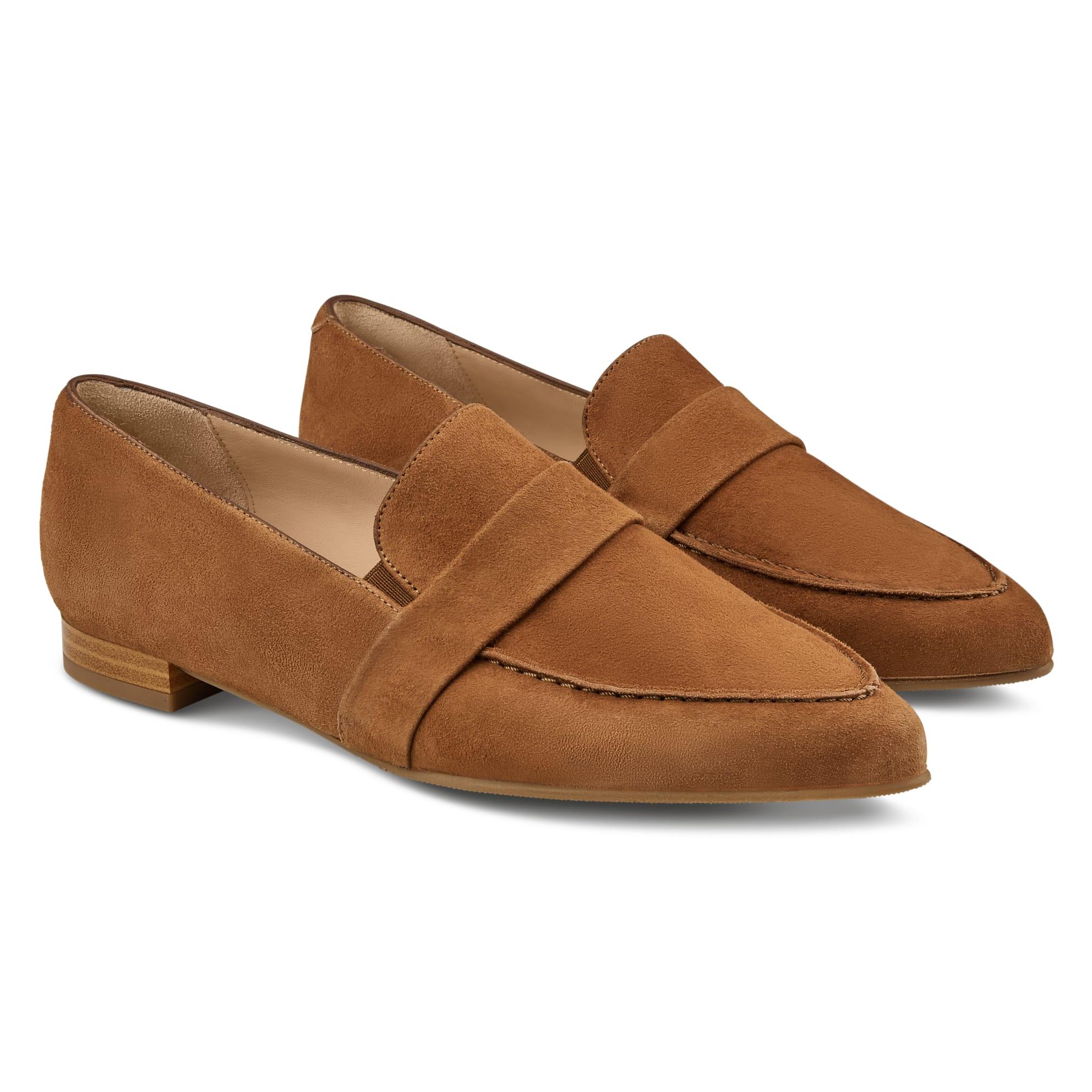 Loafer Spitz Cognac – modischer und bequemer Schuh für Hallux valgus und empfindliche Füße von LaShoe.de