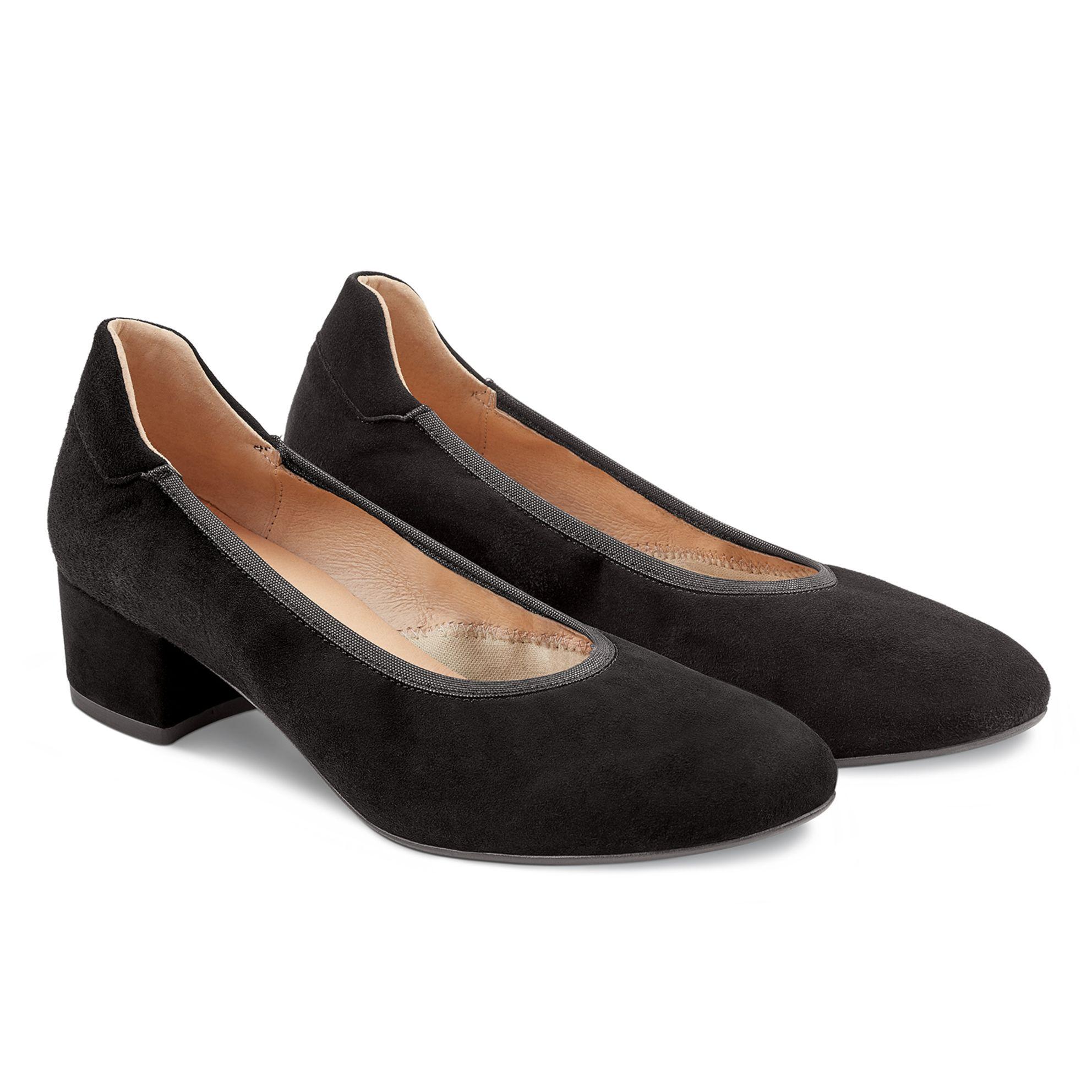 Pumps auf Blockabsatz Schwarz – modischer und bequemer Schuh für Hallux valgus und empfindliche Füße von LaShoe.de