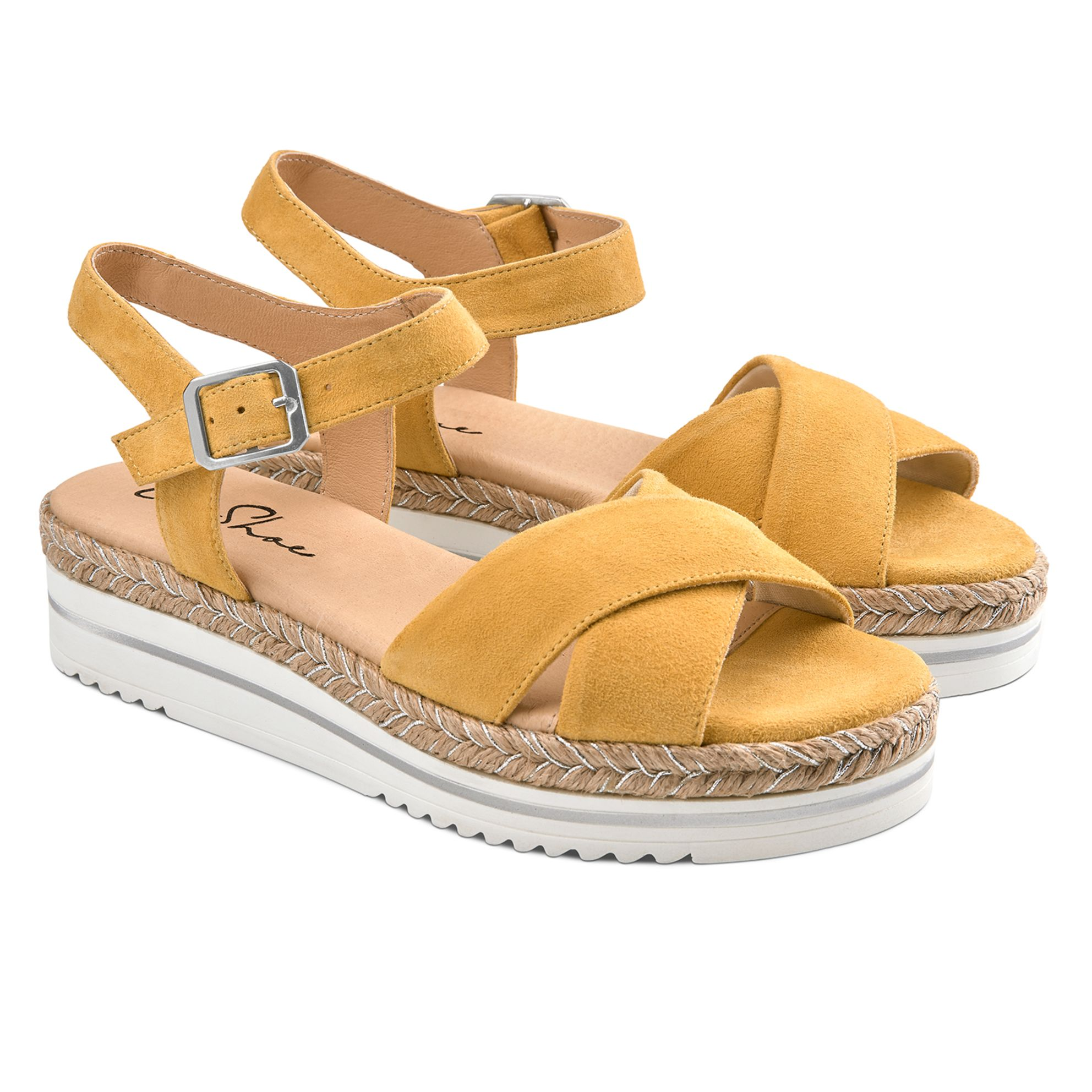 Sandale Summertime Gelb – modischer und bequemer Schuh für Hallux valgus und empfindliche Füße von LaShoe.de