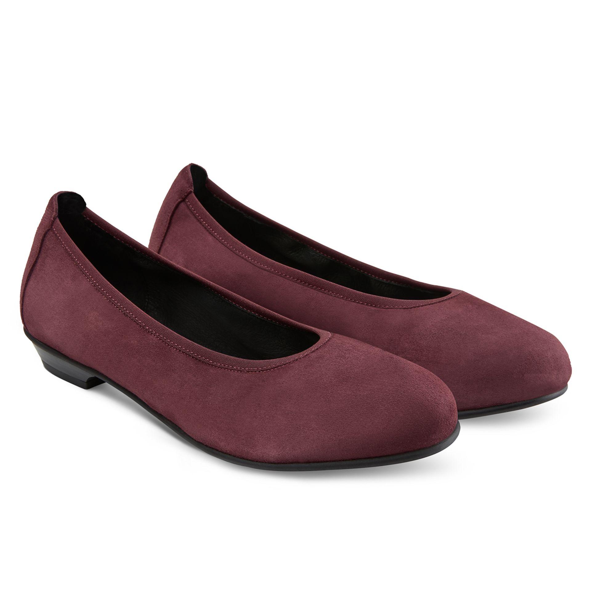 Ballerina auf Blockabsatz Bordeaux – modischer und bequemer Schuh für Hallux valgus und empfindliche Füße von LaShoe.de