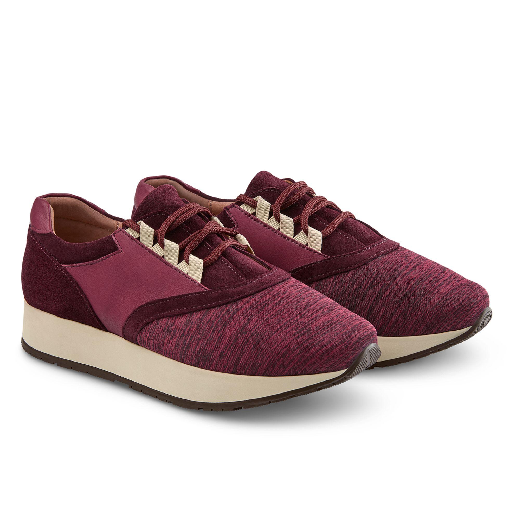 Sneaker Rot Melange – modischer und bequemer Schuh für Hallux valgus und empfindliche Füße von LaShoe.de