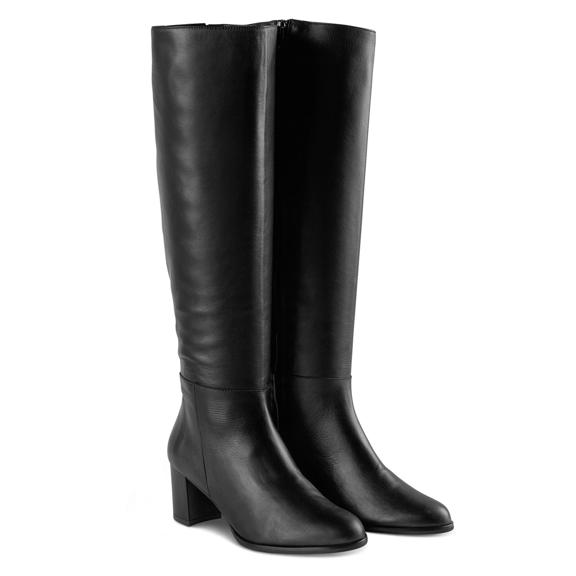 Klassischer Stiefel Schwarz  – modischer und bequemer Schuh für Hallux valgus und empfindliche Füße von LaShoe.de