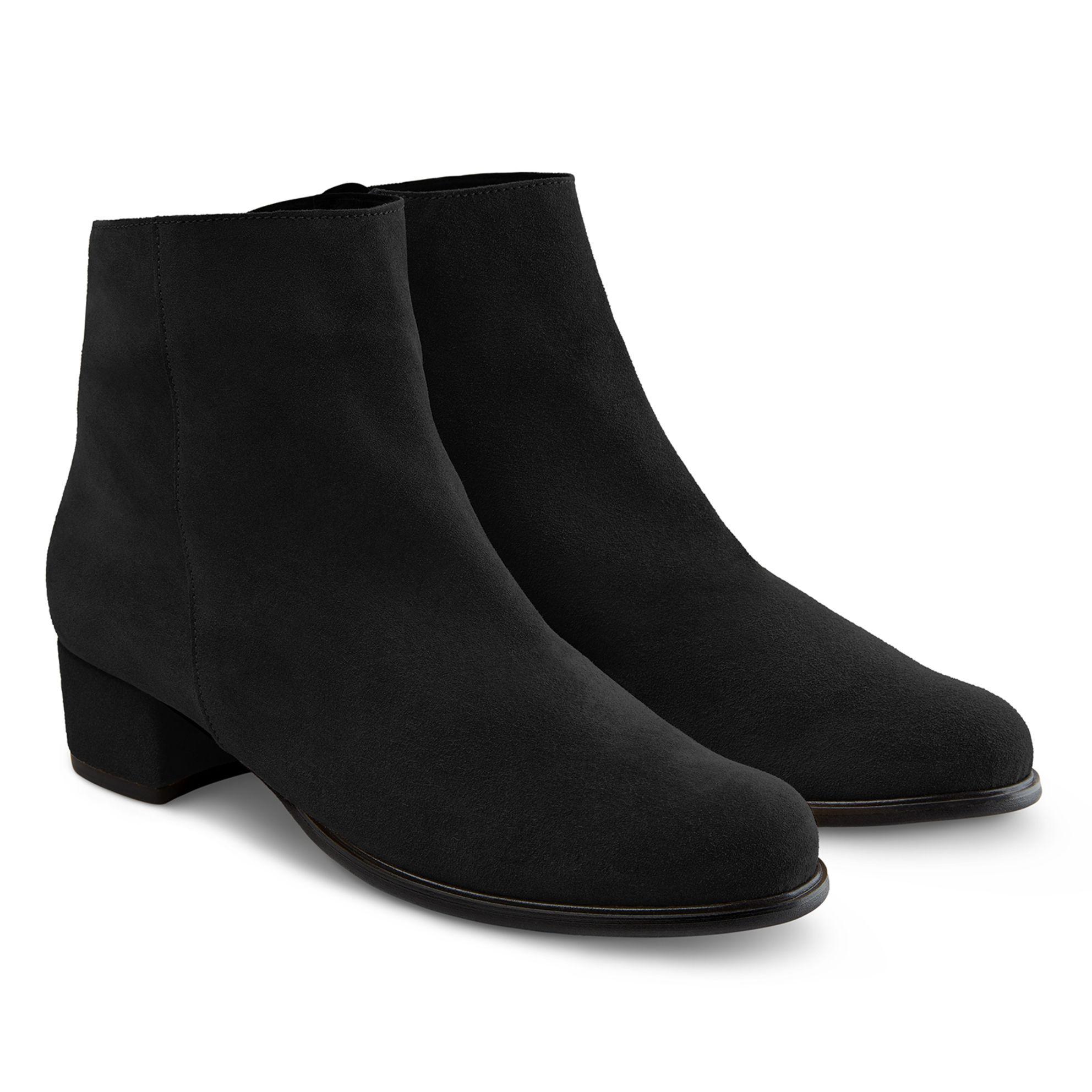 Stiefelette auf Blockabsatz Schwarz – modischer und bequemer Schuh für Hallux valgus und empfindliche Füße von LaShoe.de