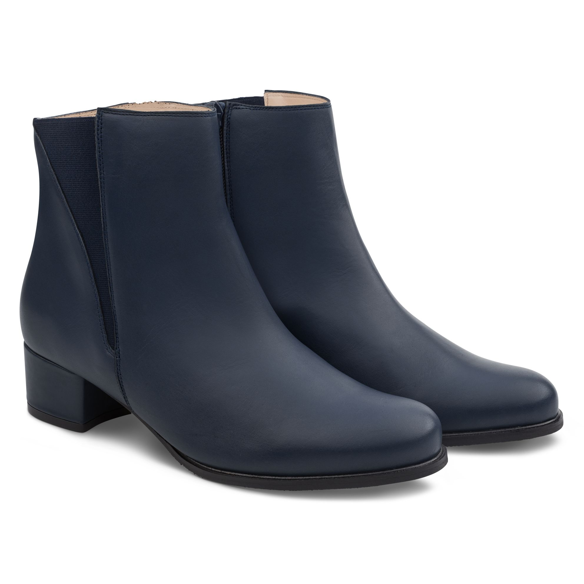 Feminine Stiefelette Marine – modischer und bequemer Schuh für Hallux valgus und empfindliche Füße von LaShoe.de