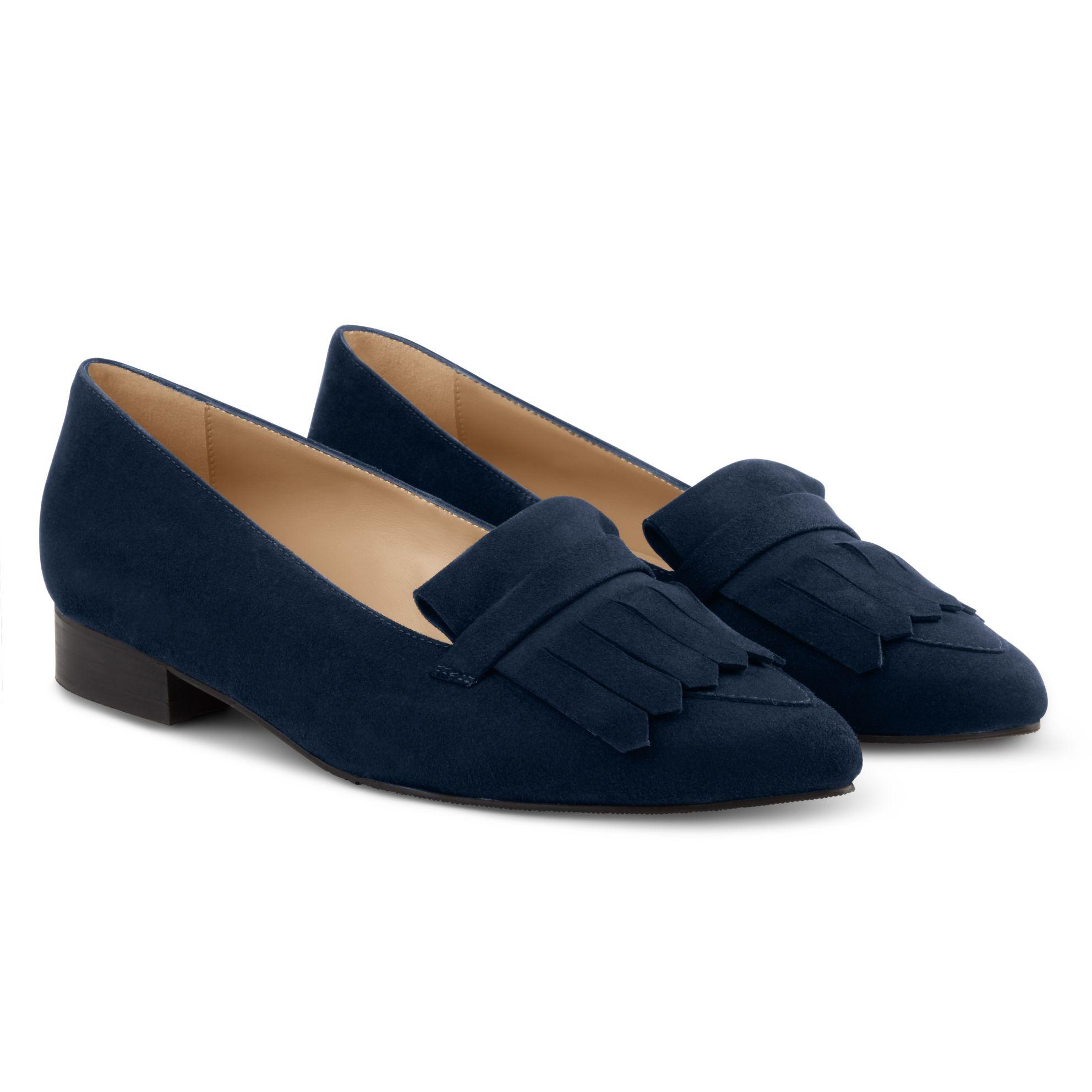 Femininer Loafer Classic Marine – modischer und bequemer Schuh für Hallux valgus und empfindliche Füße von LaShoe.de
