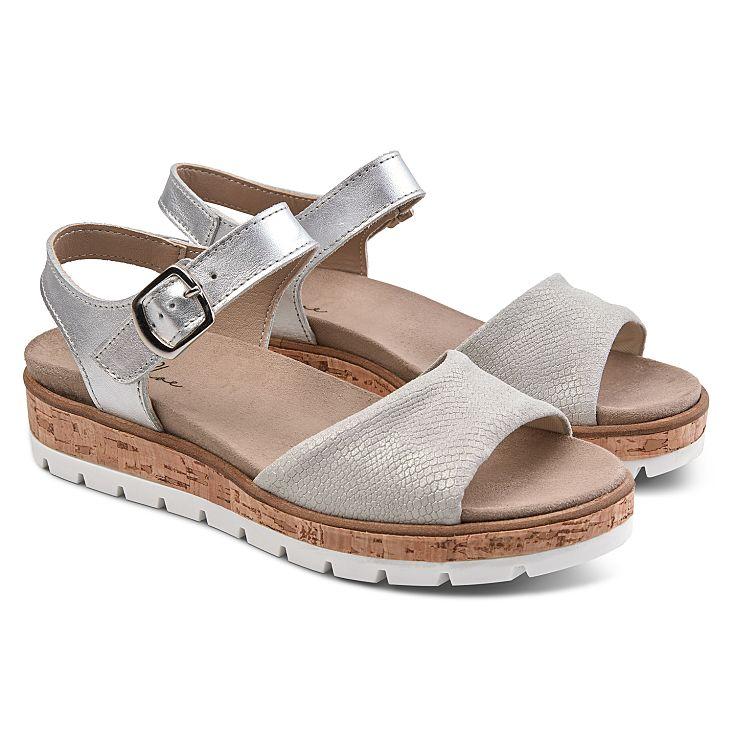 Sandale Comfy Silber