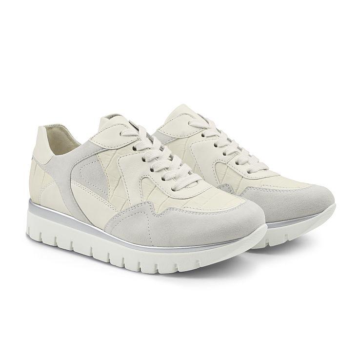 Sneaker GoWild Kroko Weiß
