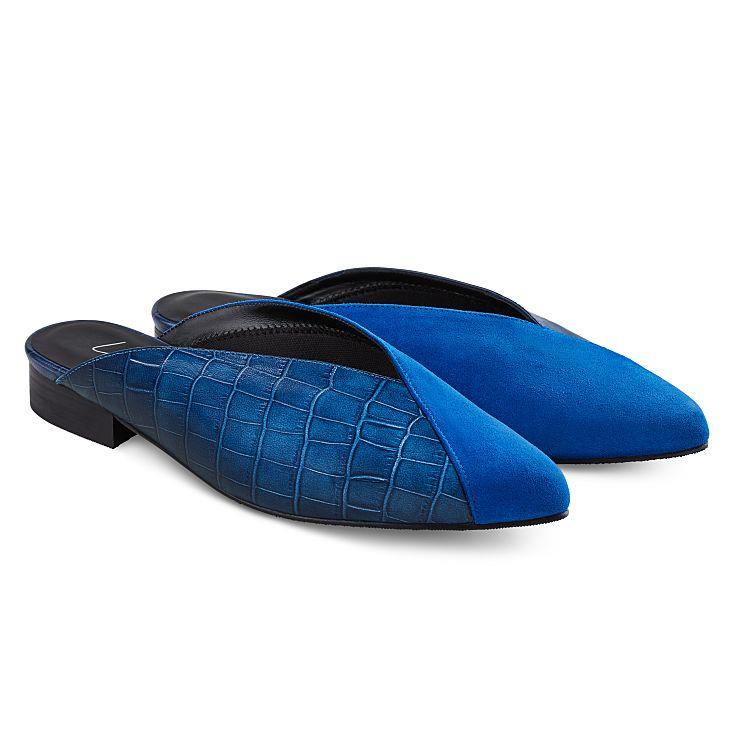 Mule Spitz mit Kroko Blau