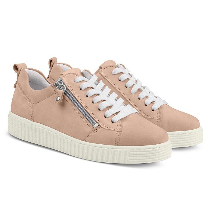 Sneaker Retro mit Zipper Hellrosé