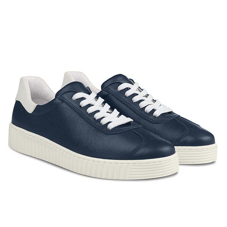 Sneaker Retro mit Kontrastferse Marine