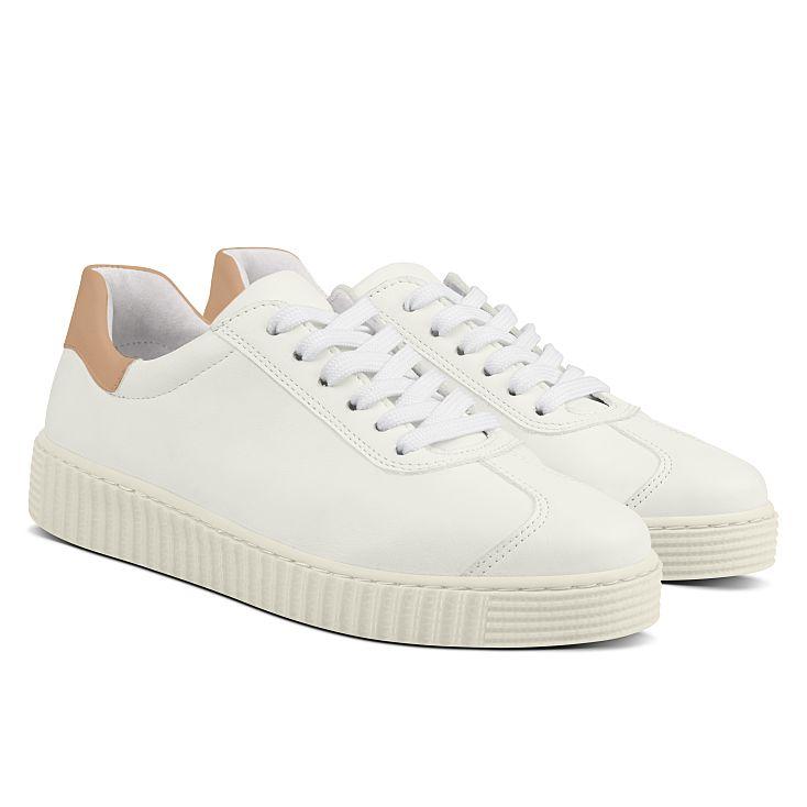 Sneaker Retro mit Kontrastferse Weiß