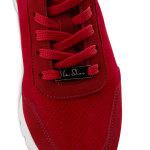 Sneaker Leder Classic Rot – modischer und bequemer Schuh für Hallux valgus und empfindliche Füße von LaShoe.de