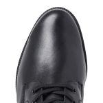 Lammfell Schnürboot Schwarz – modischer und bequemer Schuh für Hallux valgus und empfindliche Füße von LaShoe.de