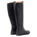 Langschaftstiefel normaler Schaft Schwarz – modischer und bequemer Schuh für Hallux valgus und empfindliche Füße von LaShoe.de