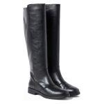 Langschaftstiefel weiter Schaft Schwarz – modischer und bequemer Schuh für Hallux valgus und empfindliche Füße von LaShoe.de