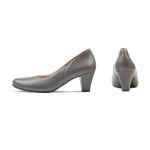 Klassischer Pumps mit Softfußbett Grau – modischer und bequemer Schuh für Hallux valgus und empfindliche Füße von LaShoe.de