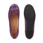 Ballerina mit Schleife Lavendel – modischer und bequemer Schuh für Hallux valgus und empfindliche Füße von LaShoe.de