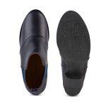 Boot im Chelsea-Stil Marine/Blau – modischer und bequemer Schuh für Hallux valgus und empfindliche Füße von LaShoe.de