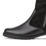 Lammfell Stiefelette Schwarz – modischer und bequemer Schuh für Hallux valgus und empfindliche Füße von LaShoe.de