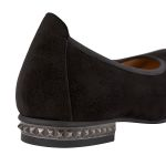 Ballerina mit Nieten-Absatz Schwarz – modischer und bequemer Schuh für Hallux valgus und empfindliche Füße von LaShoe.de