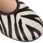 Ballerina Animal Print Zebra – modischer und bequemer Schuh für Hallux valgus und empfindliche Füße von LaShoe.de