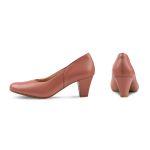 Klassischer Pumps mit Softfußbett Lachs – modischer und bequemer Schuh für Hallux valgus und empfindliche Füße von LaShoe.de