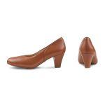 Klassischer Pumps mit Softfußbett Cognac – modischer und bequemer Schuh für Hallux valgus und empfindliche Füße von LaShoe.de